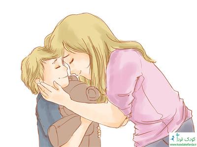 مادر و کودک کارتونی