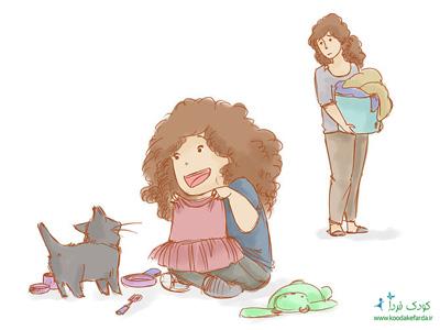 کودک کارتونی شاد